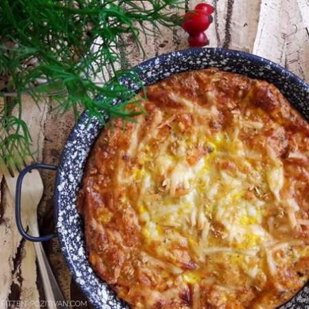 Sonkás édesburgonyás tojásos pite