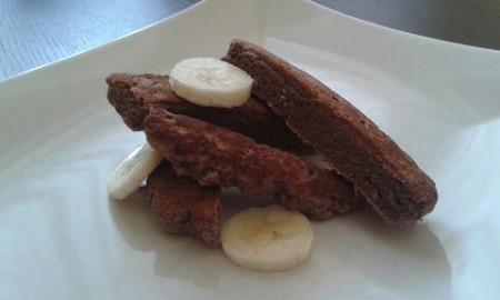 Fitt banános-kókuszos gofri