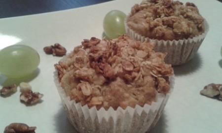 Fitt őszi müzlis muffin körtével és dióval