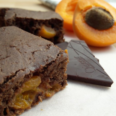 Fitt sárgabarackos proteines brownie