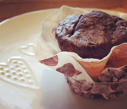 Lisztmentes proteines brownie muffin