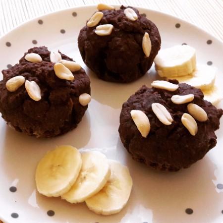 Kakaós-banános rizslisztes muffin