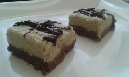 Fitt csokis-mandulás szelet sütés nélkül 15 perc alatt