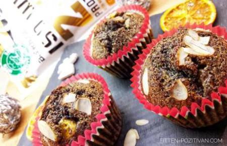 Cukormentes mákos-narancsos proteines muffin
