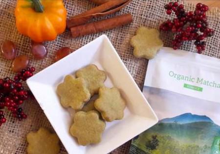 Fitt cukormentes matcha zöldteás keksz