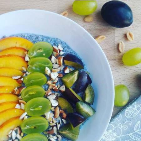 Kókusztejes gyümölcsös mandulás chiapuding