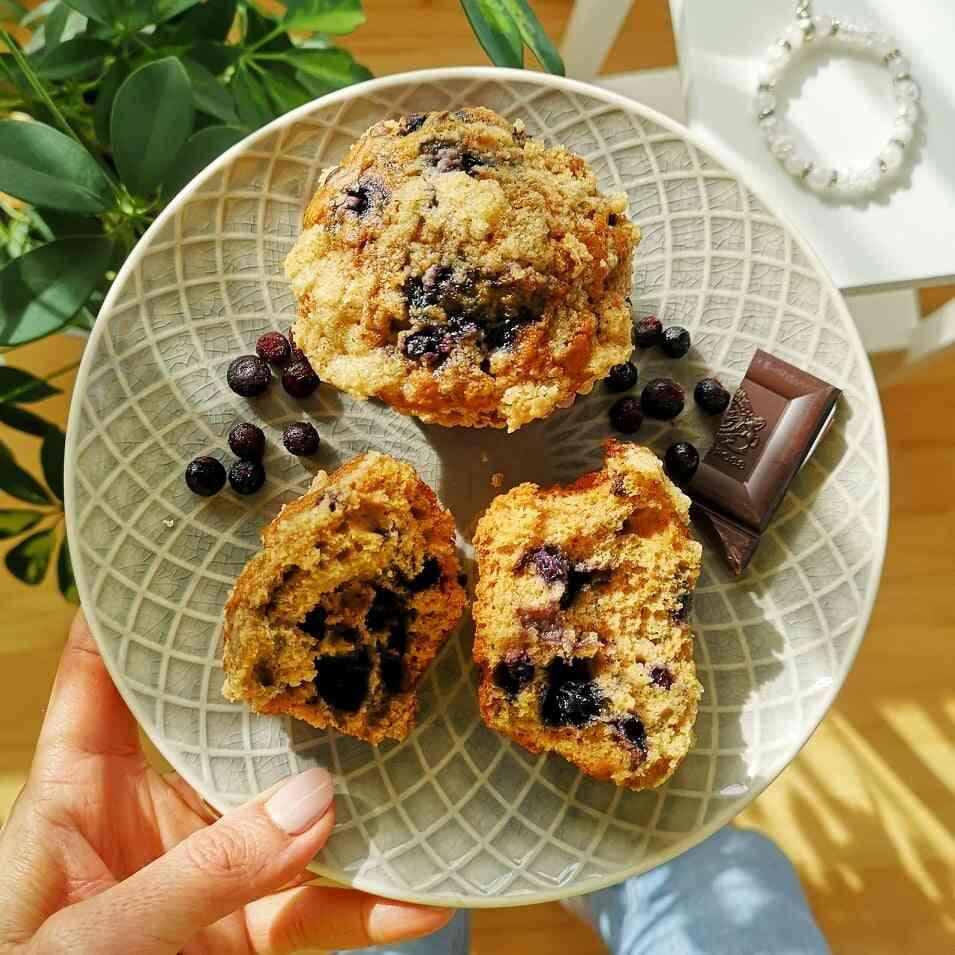 Fitt áfonyás muffin
