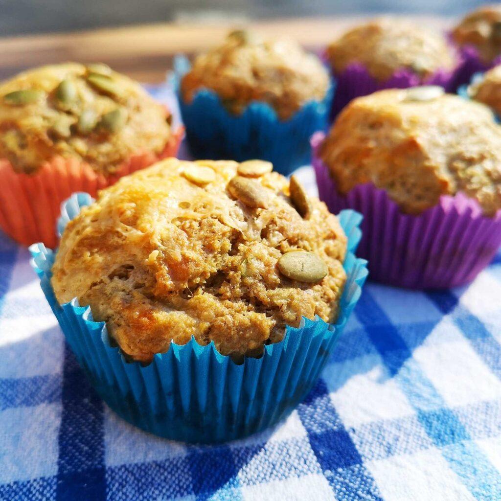 Sajtos cukkini muffin