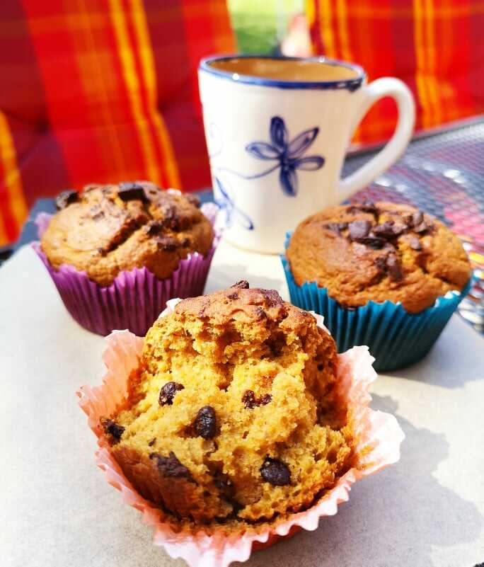 Csokis-banános muffin